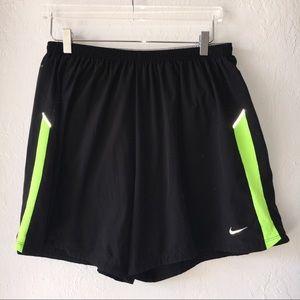 2XL Nike Dry Fit Active Running Shorts Men's Black